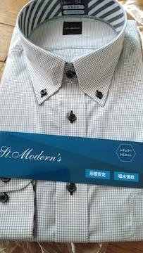 LLサイズ!形態安定!吸水速乾!高貴紳士的!高品質!長袖ボタンダウンワイシャツ