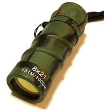 未使用 イラク戦 日本陸上自衛隊迷彩砂漠用ミニ単眼鏡 8X21