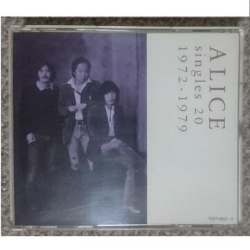 KF  アリス  シングルズ20 1972-1979 3CD