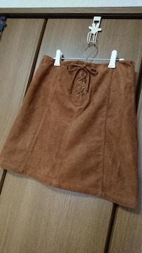 【ハニーズ】スカート*ミニ*スエード調*茶/キャメル*M