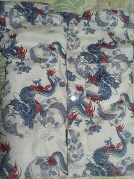 ☆新品生成×飛龍和柄ダボシャツ110
