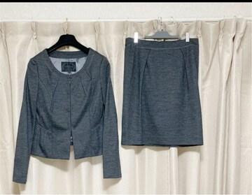 UNTITLED アンタイトル  ノーカラー スカート スーツ