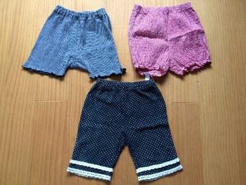 女の子パンツ80〜95☆3枚セット☆ElfinDoll☆Corneiue☆日本製☆