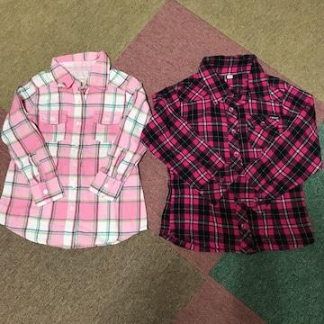 チェックシャツ 二枚セット
