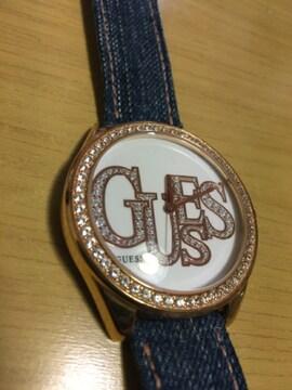 ゲス GUESS デニムベルト 腕時計 美品 稼働品
