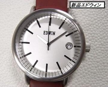 本物確実正規未使用エドウィンEDWINメンズ腕時計シルバー文字盤 rm3