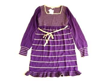 新品 COLZA コルザ Honeys ハニーズ 紫 ニット ワンピース L