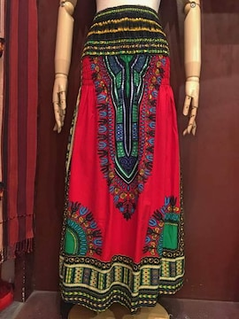 アフリカ民族衣装ダシキ柄ロングスカート★アジアン★エスニック