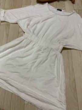 B712/EMODA/FREEサイズ/ホワイト/ミニワンピ/