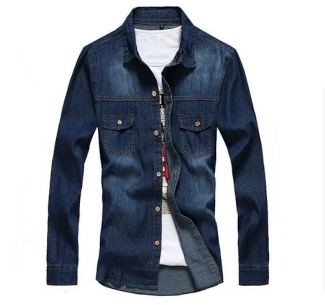 メンズ シャツ  デニムシャツカッコイイシャツ M~3XL/AK241 < 女性ファッションの