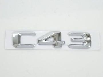 ベンツ メッキ リア トランク エンブレム スチール 山型 C43