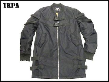新 TKPA ジップアップロングジャケット (XL)黒