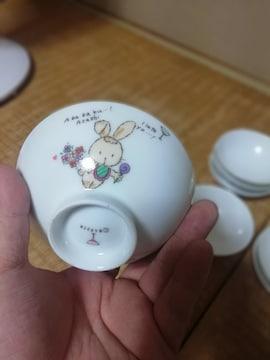 ☆激安☆大幅値下うさぎの可愛い子供用お茶碗10点セット(未使用)