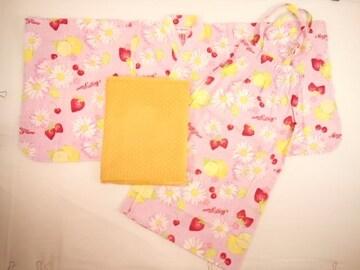 値下げセールメゾピアノ新品フラワー&フルーツ柄アレンジ2wayドレス浴衣