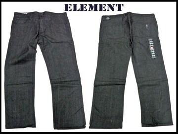 新 element ストリートスケートジーンズ 黒デニム