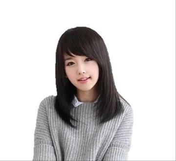 本日のみ★1290円ぽっきり★ウイッグ セミロング 黒髪セット