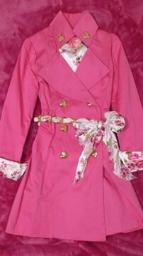 MA*RS☆マーズ☆ハッピーローズ柄ピンクコート☆新品¥12800