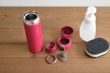 水筒 480ml 直飲み ステンレス ミニ ボトル ピンク