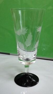 菊柄の切り子のグラス