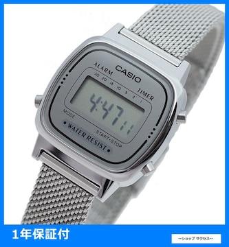 新品 即買 カシオ 腕時計 LA670WEM-7 グレー シルバー//00033954