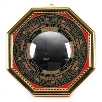 邪気を跳ね返し拡散 八卦羅盤 凸面鏡 壁掛け 玄関置物 (凸 12cm)