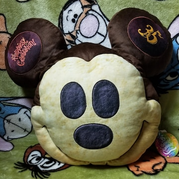 TDL☆ミッキー【クッション】ミッキーパンモチーフ★35thアニバーサリー