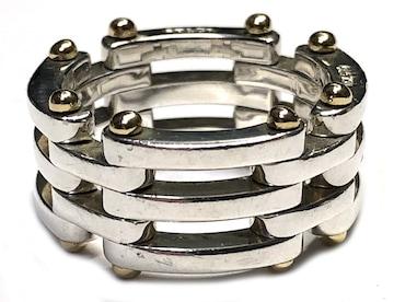 正規ティファニーゲートリング指輪約11号コンビSV925シル