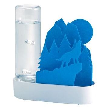 自然気化式ECO加湿器 うるおいちいさな森 ブルー