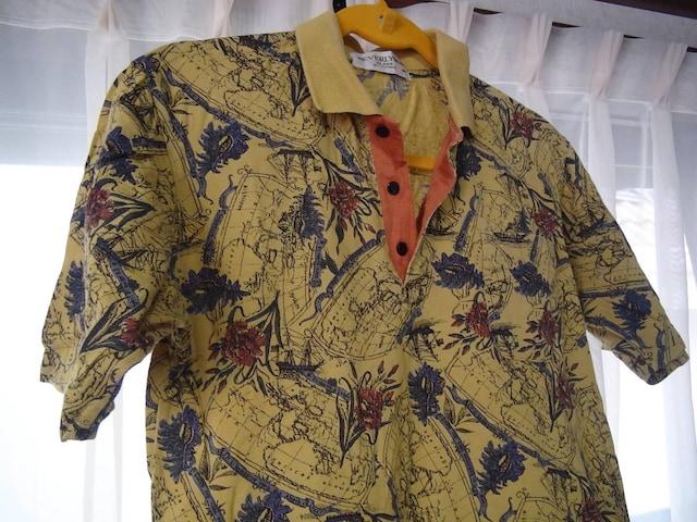 BEVERLYSUEのポロシャツ(M)日本製 !。 < 男性ファッションの