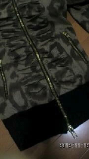 ★超カワ★レオパードクシュクシュ美ラインパーカー★ < 女性ファッションの