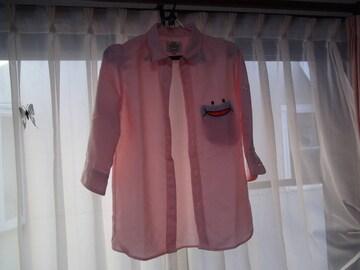 UP STARTのドレスシャツ(M)ピンク!