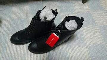 ショートブーツ 黒 レディース 新品未使用 Lサイズ