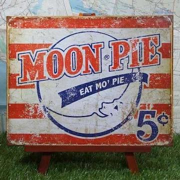 新品【ブリキ看板】Moon Pie/ムーンパイ Eat Mo' Pie 5¢