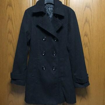 とっても素敵なコート。黒。Mサイズ。ハーフ丈。10
