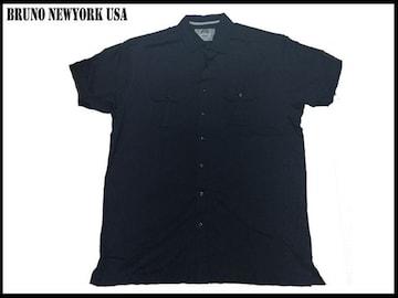 新 【紺色-2XLT】  Bruno Newyork シャツ 人気大きいサイズ