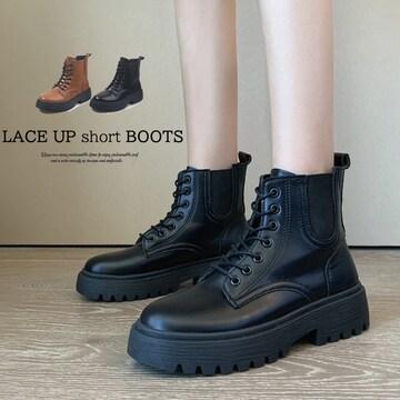 ショートブーツ レディースブーツ ワークブーツ 厚底 靴