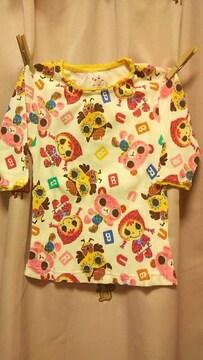 新品ブリュイアン七分袖Tシャツ120ワッフル素材