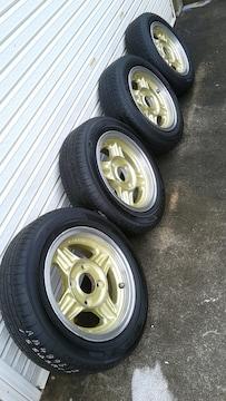シャコタン 旧車 サニー ALMEX ブルーバード 4本 ミラ ワゴンR