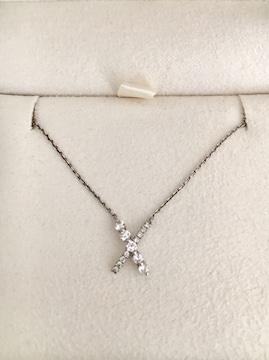 スタージュエリー ダイヤモンド ネックレス Pt950 0.17ct 2.6g