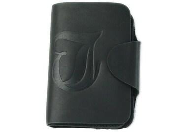 (WA-8862)TOUGH JEANS本革財布ウォレット黒ブラック