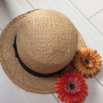 INGNIイング☆麦わら帽子☆カンカン帽☆花の髪留めブローチ付き