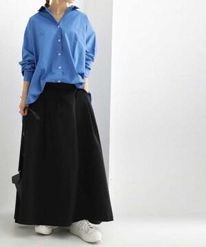 niko and…タグ付き新品☆ブラックチノのマキシスカート