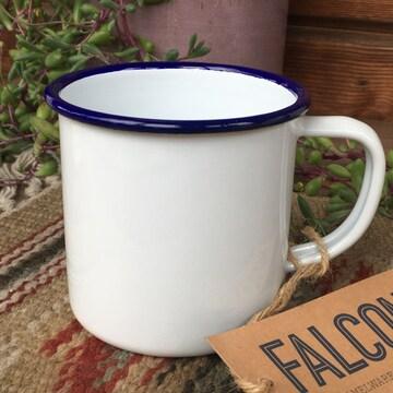 ファルコンFALCON英国伝統ホーローマグ350mlホワイト マグカップ