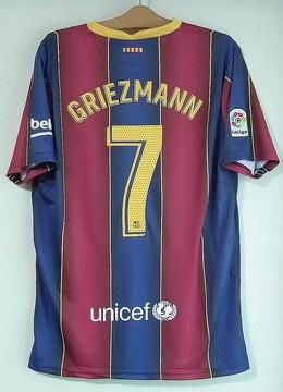 新品☆グリーズマン☆バルセロナ☆赤青7番半袖N☆フランス代表