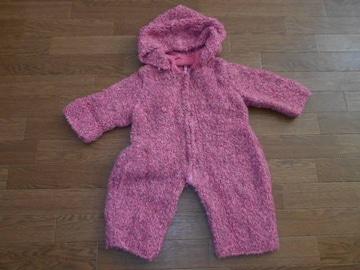 子供服★ハンドメイド 毛糸のスノーウェア ピンク