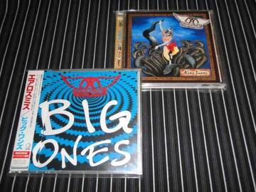 AEROSMITH『BIG ONES』+『NINE LIVES』国内盤2枚(エアロスミス)