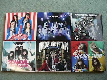 SCANDAL【BEST/TEMPTATION/QUEENS/ENCORE SHOW】CD+DVD初回盤6枚