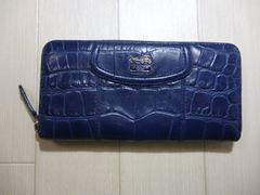COACH コーチ クロコ型押し ラウンドファスナーの長財布