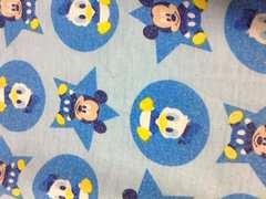 ミッキーマウス&ドナルドハーフパンツサイズ90�p(*^^*)水色ディズニー