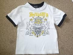白地ホワイト♪プリントTシャツ♪110
